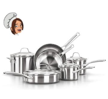 Calphalon Classic Stainless Steel Cookware Set 10 piece